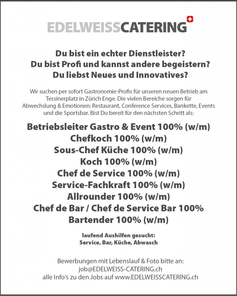 NUMBER 10 ZÜRICH | Job | Jobs | Stelle | Stellen | Tessinerplatz ...